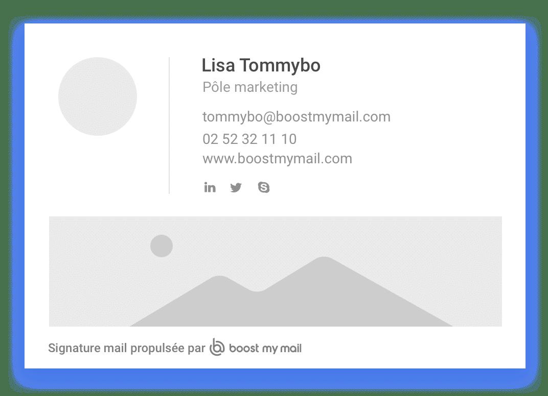 Modèle Signature Mail Template