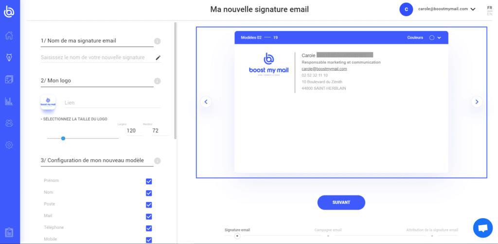 galerie signature mail