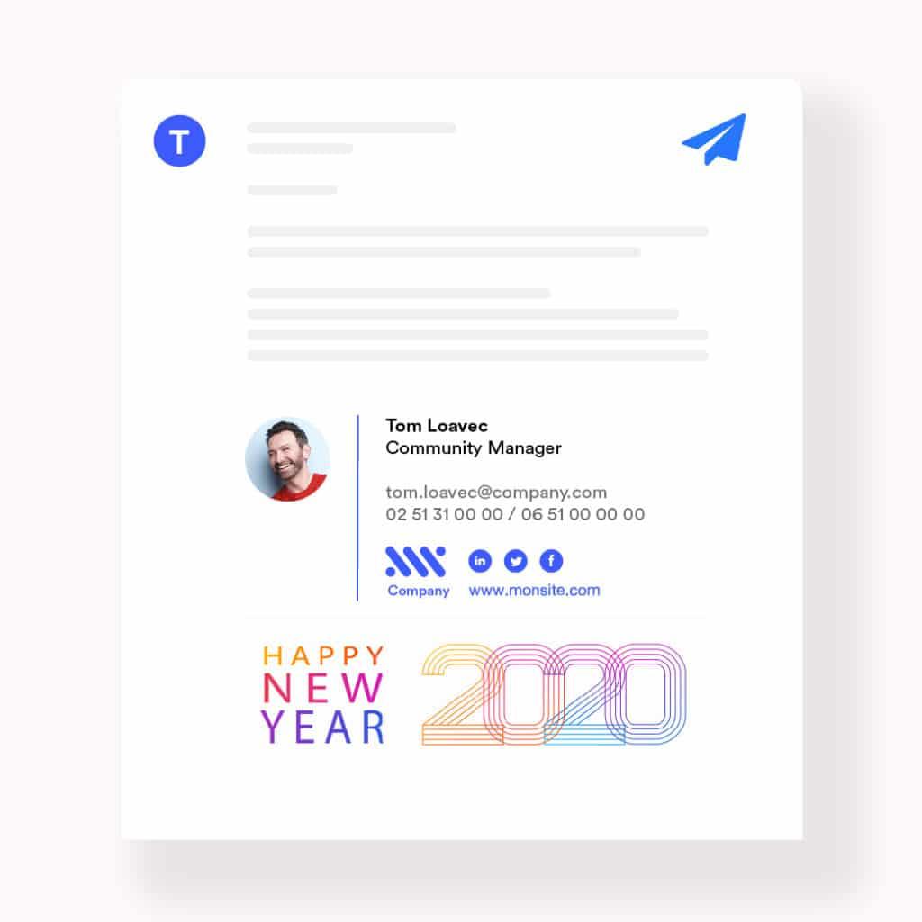 signature mail bonne année